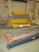 Various dismantled warehouse racking approximate measurements and quantities as follows: 4x 3.0m