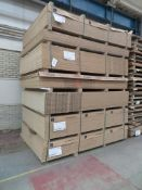 Approximately 133 mixed melamine faced chipboard panels