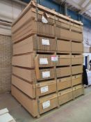 Approximately 134 mixed melamine faced chipboard panels