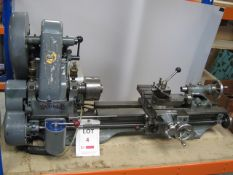 Myford ML7 Bench Lathe serial number K35067, 240V with 2 x boxes of accessories