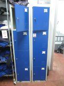 2 x metal 4 door personnel lockers