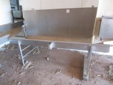 Stainless Steel freestanding bleed trough, approx. size: 2m x 680mm
