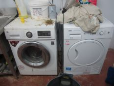 LG Direct drive washing machine, 8kg, Beko condenser sensor tumble dryer