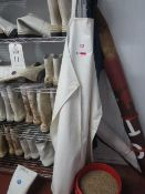 Quantity of assorted wellington boots, various sizes, aprons, overalls, various sizes