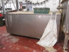 Freestanding clean wax holding tank, approx. size 2.5m x 900mm with Riello heating element
