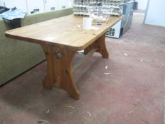 """Pine rectangle table, approx. size: 71"""" x 30"""""""
