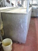 Bayle Stainless Steel wax dip tank, approx. size 2.5m x 1.2m with bridging trough