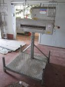 Intertech freestanding inline Poultry feather puller (geese), approx. roller size 700mm