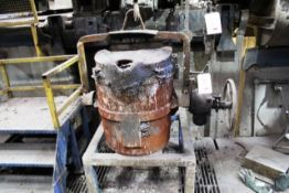 Four mobile fitting molten metal pouring ladles/pots (Should you wish a quotation for lift out of