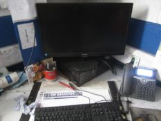 Dell Optiplex 790 computer system, three flat screen monitors, two keyboards, two mouse