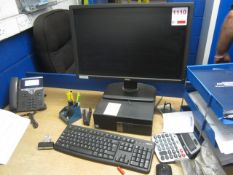 Dell Optiplex 7040 computer system, flat screen monitor, keyboard, mouse
