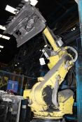 Fanuc Robot R200 ib/165F multi axle robot, fitted with magnetised picking attachment, serial no.
