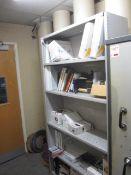 Metal open fronted 5 shelf storage unit