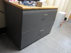 Wood effect top 2 drawer plans chest