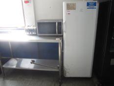 Indesit 3/4 fridge, Kenwood microwave, two 4 slice toasters, two kettles