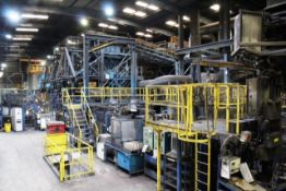 BMD Dynapulse automated conveyor type moulding plant, approx date circa 1990, appox. capacities