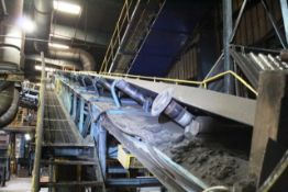Orthos elevating belt sand conveyor, approx 0.9m x 30m, with additional 0.9m x 7m belt conveyor ,