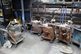 Four mobile fitting molten metal pouring ladles/pots (Should you wish a quotation for the lift out