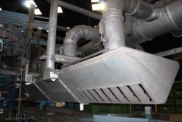 Extension heavy duty dust/fume extraction (post pould shaker to extraction units located outside)