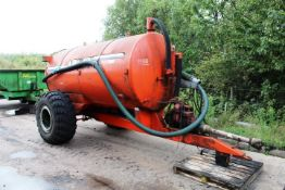 Abbey 1300 PTO driven twin axle bowser, serial no. 42569 (2006), gross weight 8400kg, unladen weight