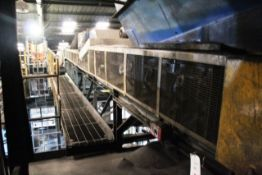 Orthos horizontal belt sand conveyor, approx 0.9 x 10m, to moulding machine silos (Should you wish a