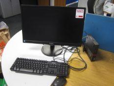Lenovo Thinkcentre Core i5, flat screen monitor, keyboard, mouse