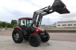 Case III JX80 tractor, ID HJJ037491, reg no: VX55 ARO (2006), recorded hours 1890.4, Quicke Q35