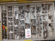 Contents of Drawer F - Slot Drills (Acceptance of the final highest bid on this lot is subject to