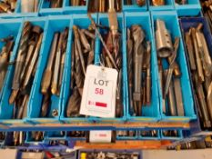7 trays of Miscellaneous Drills - tray no.2346-3045