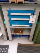3 drawer tool cabinet with freestanding tool board and contents