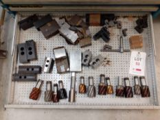Contents of Drawer R - Reamers/Jaws (Acceptance of the final highest bid on this lot is subject to
