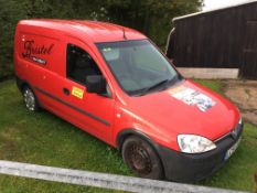 Vauxhall Combo 1700 CDTi panel van, MOT: 14/11/20, mileage: 88,432, Reg: LC54 XKJ. Please note: