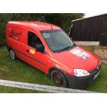 Vauxhall Combo 1700 CDTi panel van, MOT: 14/11/20, mileage: 88,432, Reg: LC54 XKJ. Please note: