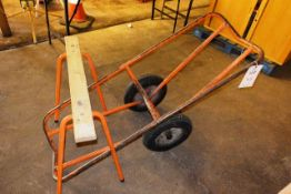 Steel frame carpet trolley and stand