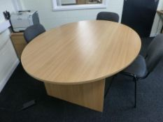 Furniture to F18 Office to include, cherry effect 1600mm x 1200mm workstation with pedestal,