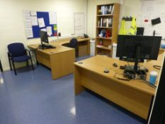 Furniture to Development office to include, 2 cherry effect 1600mm x 800mm workstations, 2 cherry