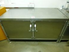 1500mm x 750mm x 840mm stainless steel bench/cupboard unit