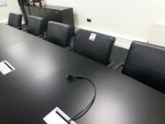 14 black leatherette chrome framed boardroom chairs