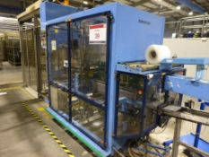 GEI Europack Collator / Wrapper/ Bander with 1300mm x 140mm roller conveyor. Please note: A