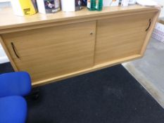 Remaining furniture to production office to include, 4 cherry effect 1600mm x 1200mm workstations, 3