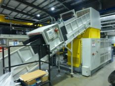 NGR Palletising & Recycling Line, comprising SM 5.6m x 800mm elevating Infeed conveyor, Mesutronic