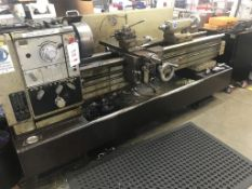 Harrison M400 gap bed lathe, serial No 401140 947 with 240mm overbed swing, 1400mm between