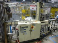 Gima 888 DVD multi case wrapper, serial No 88852F0 (2002) with film unwind unit, 2 Leister hot air