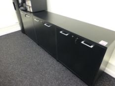 Black satin finish 4 door cupboard unit, 2340mm x 420mm x 800mm