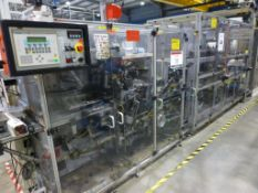 Heino I iilsemann Type CM-3W wrapper/welder, serial No. 01-F90024 (2002) with Heino SB-10A collator,