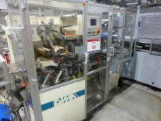 GIMA Type 884 DVD CNC Rotary Thermal Welding Machine Serial No. 88455FO (2003) with turnover unit.