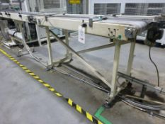2000mm x 220mm powered belt conveyor and 1600mm x 560mm powered belt conveyor. Please note: A