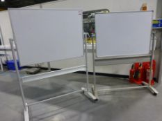 Two 1200mm x 900mm mobile whiteboards