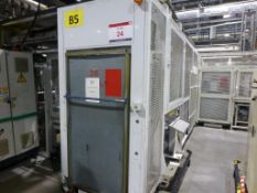 GMAT Model M53 CNC automated DVD case twin arm picking/stacking system with case closure unit,
