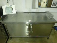 1500mm x 700mm x 840mm stainless steel bench/cupboard unit
